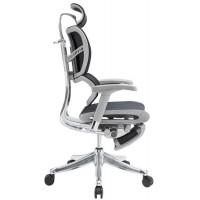 Эргономичное компьютерное кресло Expert Fly с выдвигаемой подножкой  (Черное)