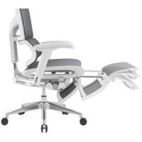 Эргономичное компьютерное кресло Expert  Sail с выдвигаемой подножкой  (Серое)