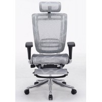 Эргономичное компьютерное кресло Expert Spring с подставкой для ног (черное)