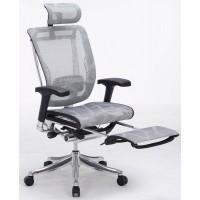 Эргономичное компьютерное кресло Expert Spring с подставкой для ног (серое)