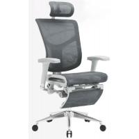 Эргономичное компьютерное кресло Expert Star с подножкой (Черное)