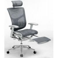 Эргономичное компьютерное кресло Expert Star с подножкой (Серое)