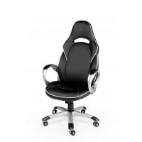 Кресло для геймера игровое MUSTANG X BLACK-WHITE - МУСТАНГ