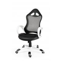 Кресло для геймера игровое TESLA WHITE BLACK - ТЕСЛА
