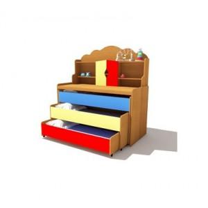 Кровать детская трехъярусная с надстройкой тип 1