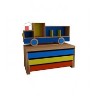 Кровать детская трехъярусная с надстройкой тип 2