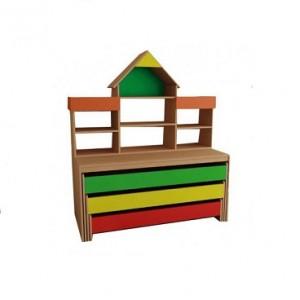 Кровать детская трехъярусная с надстройкой тип 3