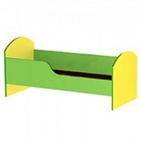 Кровать ЛДСП цветная с бортиком