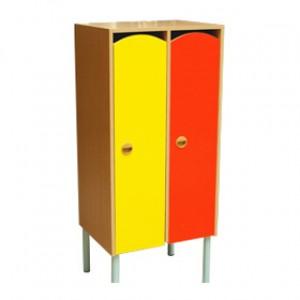 Шкаф 2-х секционный на металлокаркасе