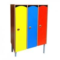 Шкаф 3-х секционный на металлокаркасе