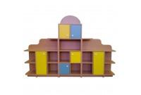 Шкафы и стеллажи для детского сада