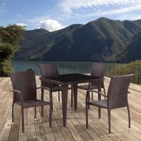 Комплект плетеной мебели из искусственного ротанга T341B/Y376-W773-90x90 4Pcs Brown