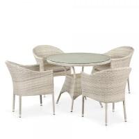 Комплект плетеной мебели из искусственного ротанга T190A/Y350A-W85-D90 Latte 4Pcs