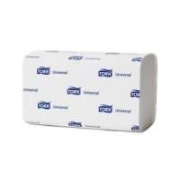 Полотенца бумажные листовые Tork Universal H3 120108 ZZ-сложения 1-слойные