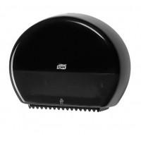 Диспенсер черный  для туалетной бумаги Tork в мини рулонах 555008