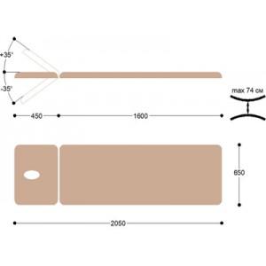 Массажная кушетка смотровая КМ03