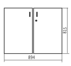 Комплект низких дверей c замком 894х18х815