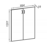 Комплект средних дверей 894х18х1201
