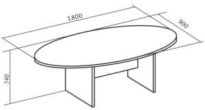 Стол конференционный 1800х900х745
