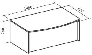 Стол рабочий 1800х900х745