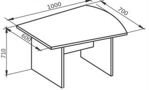 Брифинг-приставка 1000х600х710