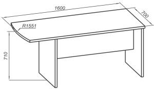 Брифинг-приставка 1600х700х710