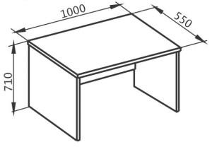 Стол приставной 1000х550х710