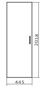 Дверь высокая левая 445х18х2018