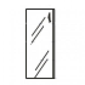 Дверь стеклянная без фурнитуры - Матовое стекло в алюминиевой рамке