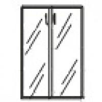 Дверь стеклянная без фурнитуры - Тонированное стекло 894х4х1201