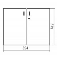 Комплект низких дверей с замком 894х18х815