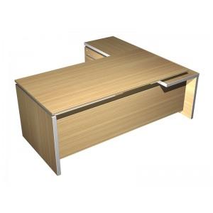 Стол руководителя с брифинг приставкой боковой левой (200x180x76