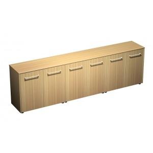 Шкаф для документов низкий закрытый(стенка из 3 шкафов) (274x46x81)