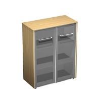 Шкаф для документов средний со стеклянными дверями (94x46x120)