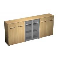Шкаф комбинированный средний(закрытый - стекло - закрытый) (274x46x120)