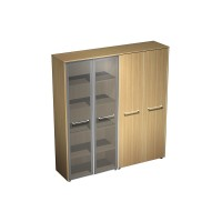 Шкаф комбинированный (стекло-одежда)  (184x46x196)
