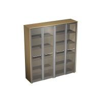 Шкаф для документов со стеклянными дверями (184x46x196)