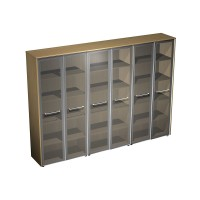 Шкаф для документов со стеклянными дверями  (274x46x196)