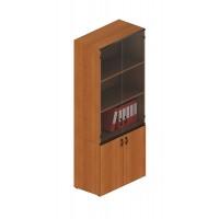 Шкаф для документов со стеклянными дверями высокий (90x45x207)