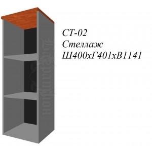 Стеллаж средний узкий фаворит СТ-02 400х400х1171