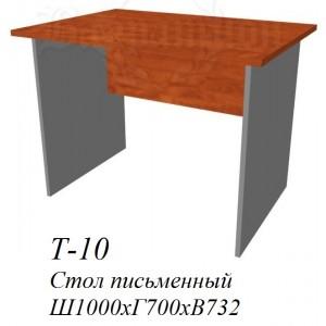 Стол рабочий Т-10 фаворит 1000х700х732