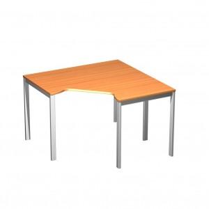Стол эргономичный угловой на металлокаркасе МП 118.8x118x75