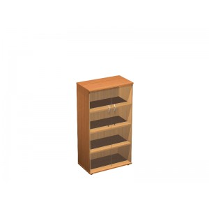 Шкаф для документов со стеклом 80x45x148