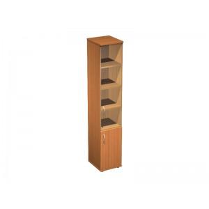 Шкаф для документов узкий со стеклом 41x45x219