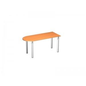 Стол письменный полукруглый на хромированных опорах 180x67x75