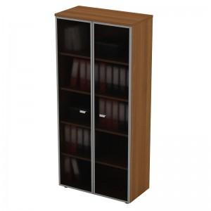 Шкаф для документов со стеклянными высокими дверями в рамке 90x46x197