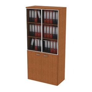 Шкаф для документов со стеклянными дверьми 90x45x199