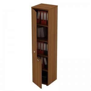 Шкаф для документов узкий закрытый 2-дверный 46x46x197