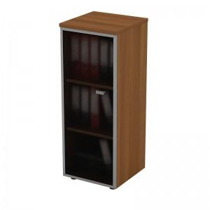 Шкаф для документов средний узкий со стеклянной дверью в рамке левый 46x46x120