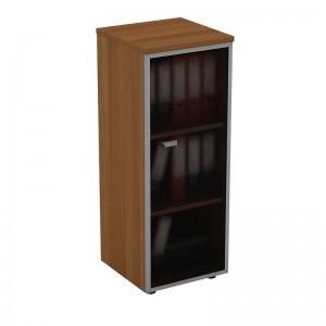 Шкаф для документов средний узкий со стеклянной дверью в рамке правый 46x46x120